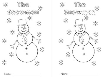 The Snowman - Color Words and Basic Reading Skills Book
