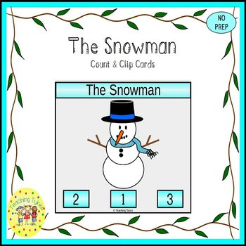 The Snowman Count and Clip Task Cards