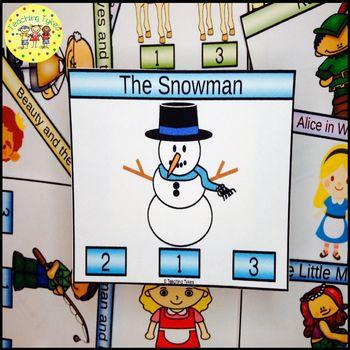 The Snowman Task Cards