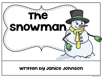 The Snowman Emergent Reader {For Young Readers}