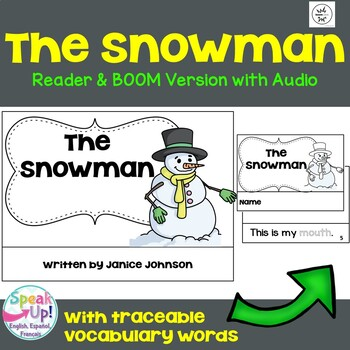 The Snowman Emergent Reader {For Young Readers} + BOOM™ Version w Audio