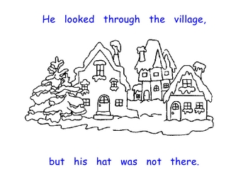 The Snowman Looked For His Hat - Positional Words