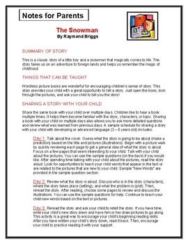 The Snowman Parent Notes