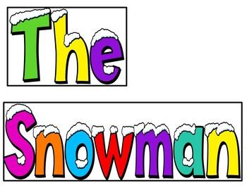 The Snowman (Pocket Chart Activity)