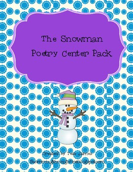 The Snowman Poem Poetry Center Pack