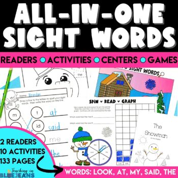 The Snowman Sight Word Book - Emergent Reader