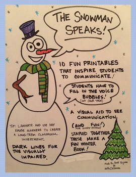 The Snowman Speaks! Awesome Communication Skills & Winter Fun Printables