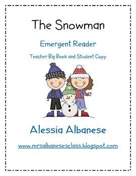 The Snowman - Teacher big book and student emergent reader {FREEBIE}