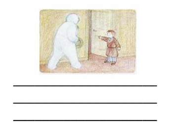 The Snowman by Raymond Briggs Writing Activity