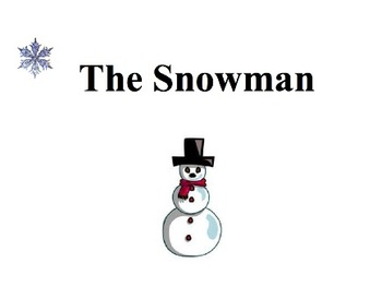 """""""The Snowman"""" poem and SMART board presentation"""