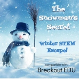 The Snowman's Secret Winter STEM States of Matter Science Breakout Game