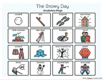The Snowy Day - BOARDMAKER Bingo Game