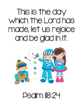 image relating to The Snowy Day Printable referred to as The Snowy Working day Bible Verse Printable (Model 1 - Small children) as a result of