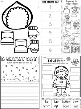 The Snowy Day Craft & Activity Pages