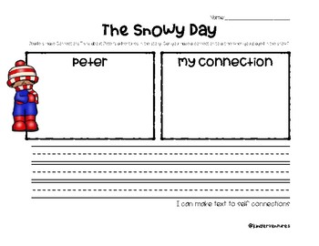 The Snowy Day ELA Plans and Exit Tickets