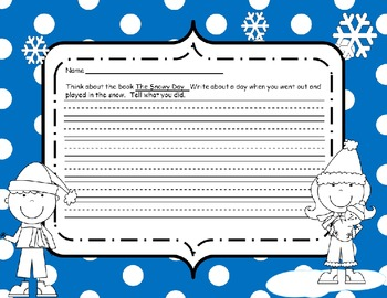 The Snowy Day Grammar and Writing Packet