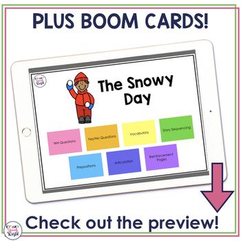 The Snowy Day:  No Prep Speech & Language Activities
