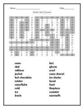 The Snowy Day Quiz for Kids with Word Search!