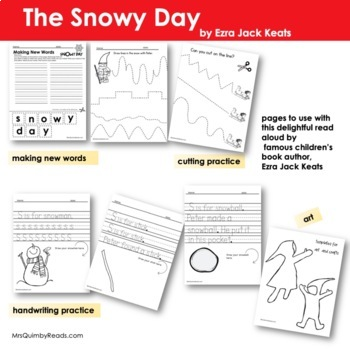 The Snowy Day - Reader Response Pages with 'Spin-Off' Lesson