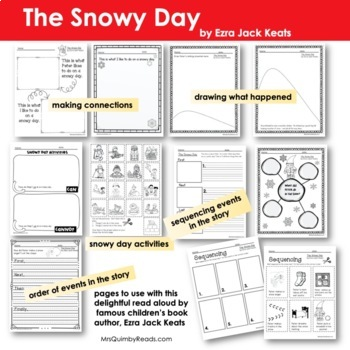 The Snowy Day | Printables | with 'Spin-Off' Lesson | Book Companion