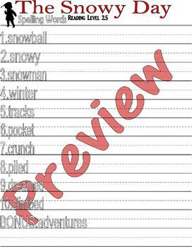 The Snowy Day : Winter Reading Comprehension Book Companion & Activity Packet