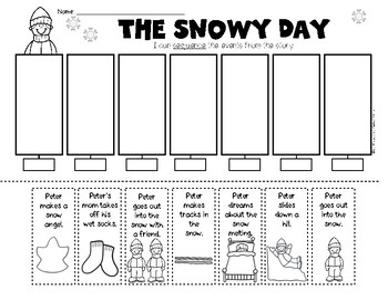 The Snowy Day Sequencing/Retelling Kindergarten & First Grade Reading