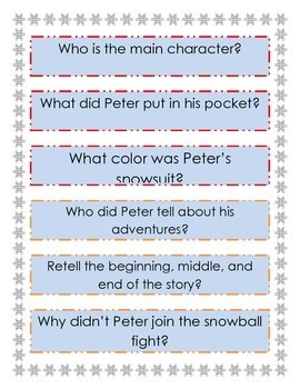 The Snowy Day a Common Core Literacy Unit