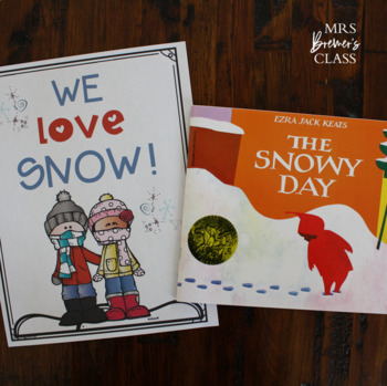 This is a graphic of Old Fashioned The Snowy Day Printable