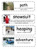 The Snowy Day by Ezra Jack Keats vocabulary cards