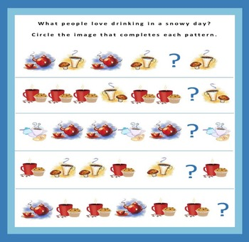 """""""The Snowy Day"""" visual fun math activities"""