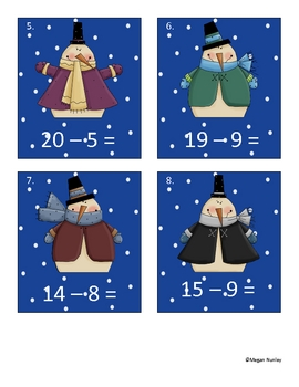 The Snowy Days of January Math and Language Arts Station Activities