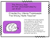 The Snowy Nap Story Element Resources