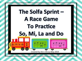 The So-Mi-La-Do Sprint - A Race Game to Practice So, Mi, L