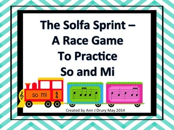 The Solfa Sprint - A Race Game to Practice So and Mi