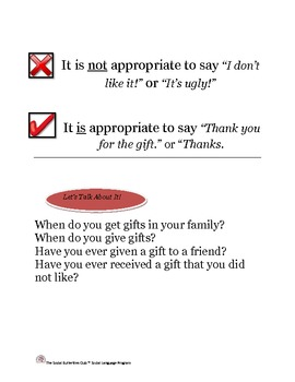 The Social Butterflies Club- Giving  and Receiving Gifts Life Lesson Story