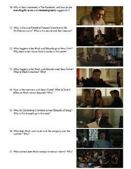 The Social Network Film (2010) Study Guide Movie Packet