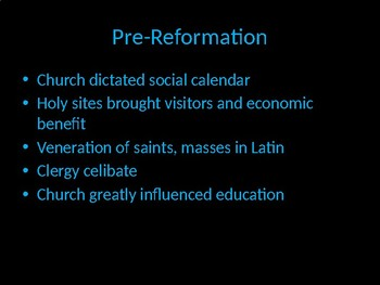 The Social Significance of the Reformation