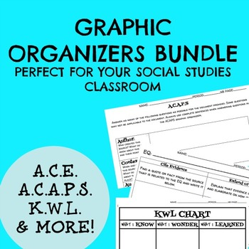 The Social Studies Primary Source Graphic Organizer Bundle