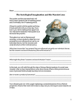 The Sociological Imagination and the Marxist Lens