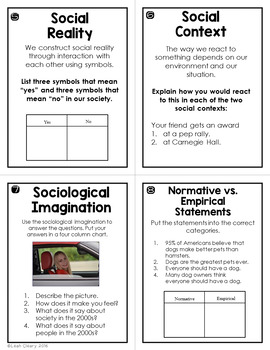The Sociological Perspective Editable Test, Study Guide, And Task Cards