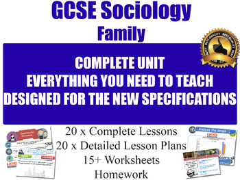 Sociology of Family (20 Lesson Unit)