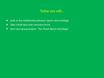 The Sociology of Sport