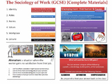 The Sociology of Work (GCSE) [Complete teaching materials] (Over 40 files!)