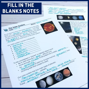 The Solar System ALL-IN-ONE Lesson | PowerPoint, Notes, Art Activity & More