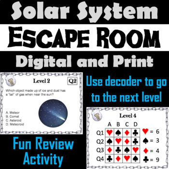 The Solar System Activity: Escape Room - Science