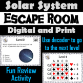 Solar System Activity Escape Room Space Science Game: Planets, Moons, Comets etc