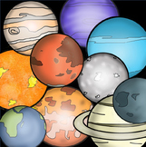 The Solar System and Planet Clip Art