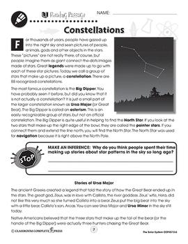 The Solar System: Constellations Gr. 5-8