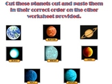 The Solar System Cut and Paste Worksheet