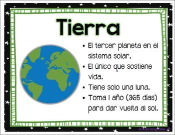 The Solar System (El Sistema Solar) - Spanish Posters